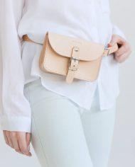 NOSKA Leather Bel Bag (Natural)